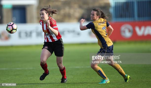 Madelaine Hill of Sunderland Ladies and Chloe Arthur of Bristol City Women during the WSL 1 match between Sunderland Ladies and Bristol City Women at...