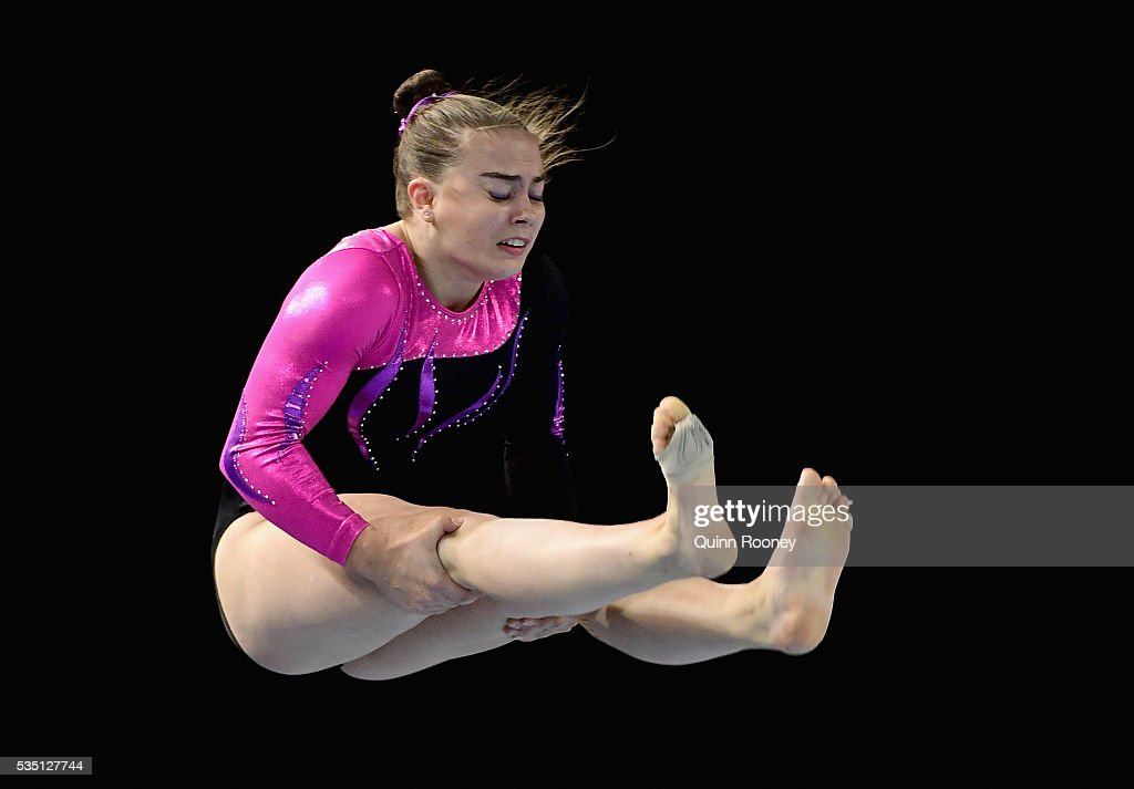 Madelaine Leydin of Victoria competes on the floor during the 2016 Australian Gymnastics Championships at Hisense Arena on May 29, 2016 in Melbourne, Australia.