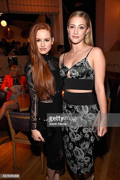 Madelaine Petsch and Lili Reinhart attend The CW Network's 2016 Upfront party at Park Avenue Spring on May 19 2016 in New York City