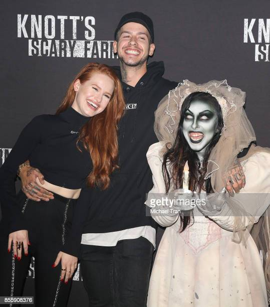 Madelaine Petsch and Travis Mills arrive at Knott's Scary Farm and Instagram's Celebrity Night held at Knott's Berry Farm on September 29 2017 in...