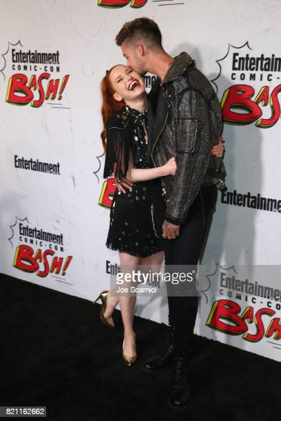 Madelaine Petsch and Travis Mills at Entertainment Weekly's annual ComicCon party in celebration of ComicCon 2017 at Float at Hard Rock Hotel San...