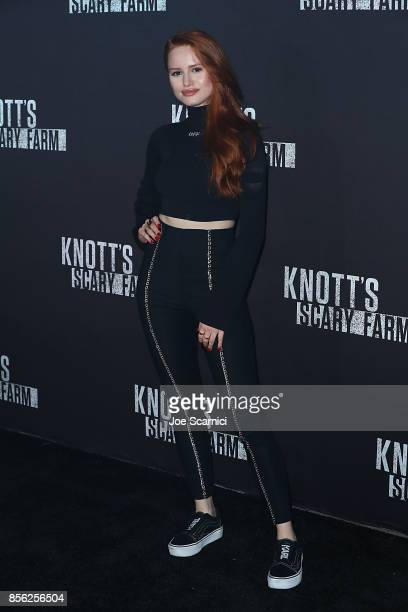 Madelaine Petsch arrives at Knott's Scary Farm and Instagram's Celebrity Night at Knott's Berry Farm on September 29 2017 in Buena Park California