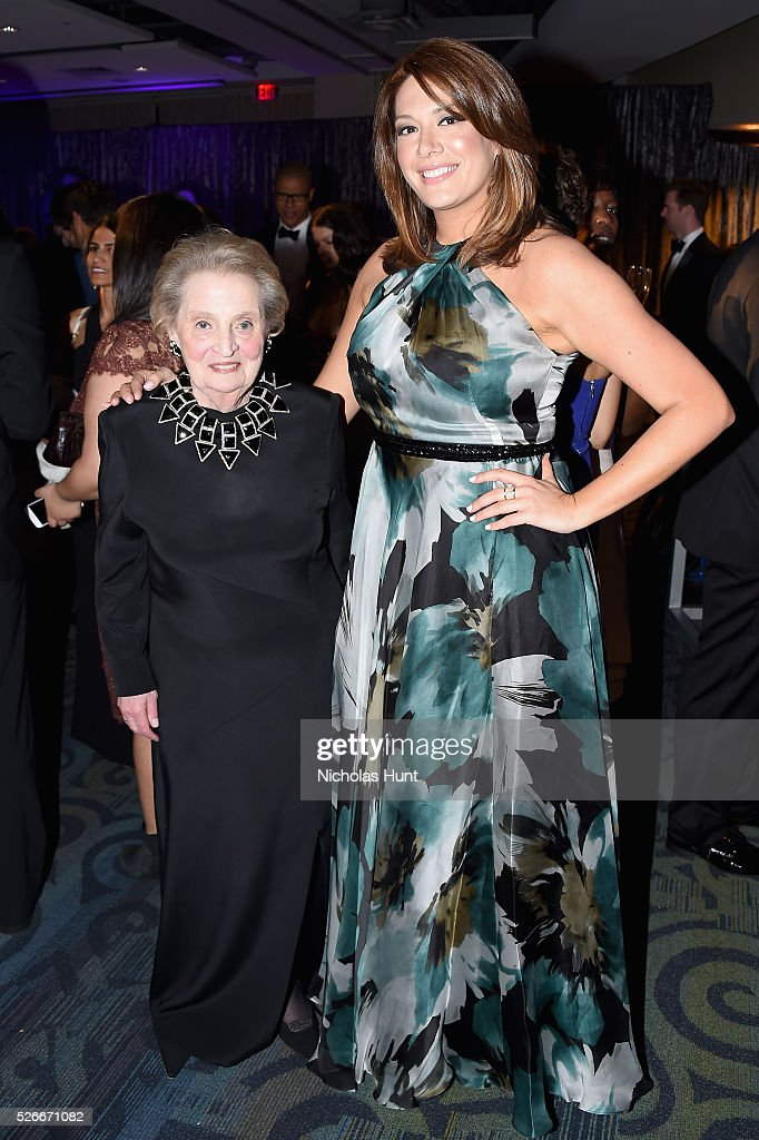 Madeleine Albright (L) and Michelle Collins attend the Yahoo News/ABC News White House Correspondents' Dinner Pre-Party at Washington Hilton on April 30, 2016 in Washington, DC.