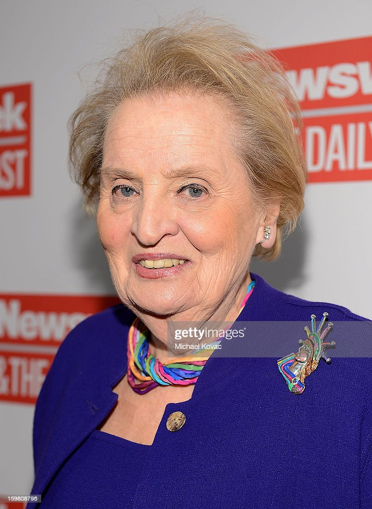 <a gi-track='captionPersonalityLinkClicked' href=/galleries/search?phrase=Madeleine+Albright&family=editorial&specificpeople=211429 ng-click='$event.stopPropagation()'>Madeleine Albright</a> attends The Daily Beast Bi-Partisan Inauguration Brunch at Cafe Milano on January 20, 2013 in Washington, DC.
