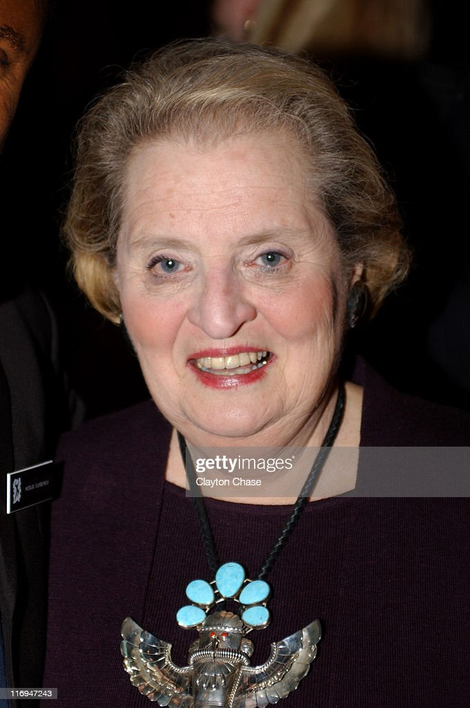 <a gi-track='captionPersonalityLinkClicked' href=/galleries/search?phrase=Madeleine+Albright&family=editorial&specificpeople=211429 ng-click='$event.stopPropagation()'>Madeleine Albright</a> during 2002 Reebok Human Rights Award Dinner at Sundance Rehearsal Hall in Sundance, Utah, United States.