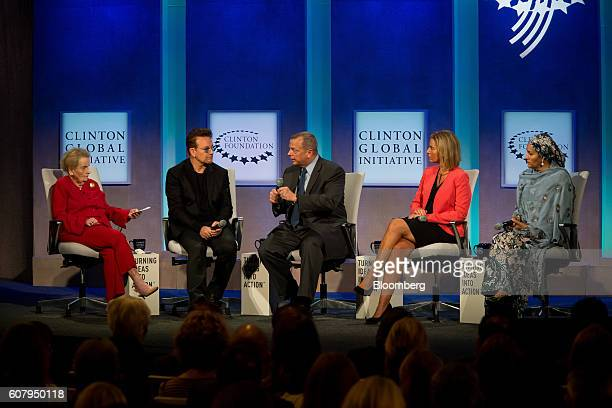 Madeleine Albright former Secretary of State from right Bono singer for the band U2 General John Allen former commander of the International Security...