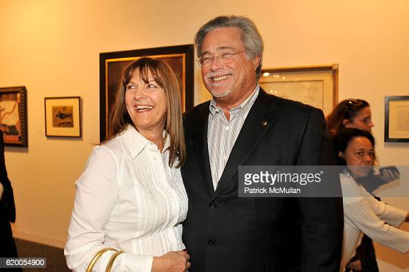 Madeleine Arison and Micky Arison attend ART BASEL MIAMI VIP COLLECTORS PREVIEW at Miami Beach Convention Center on December 3 2008 in Miami Beach...