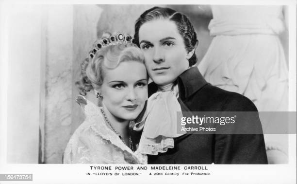 Madeleine Carroll and Tyrone Power in a scene from the film 'Lloyd's Of London' 1936