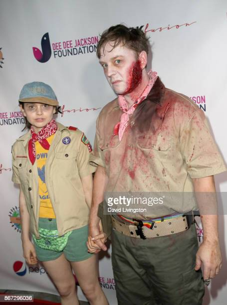 Madeleine Coghlan and Darren Hayes at Prince Jackson's Heal LA and TLK Fusion Present the 2nd Annual Costume for a Cause at Jackson Family Home on...