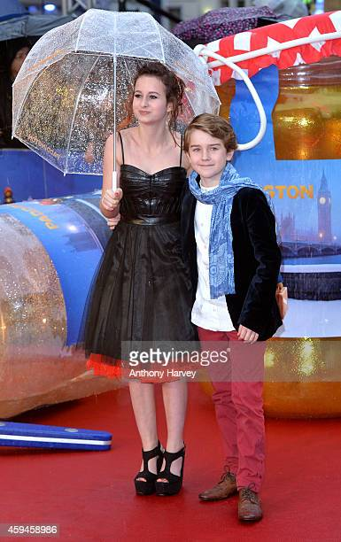 Madeleine Harris and Samuel Joslin attend the World Premiere of 'Paddington' at Odeon Leicester Square on November 23 2014 in London England