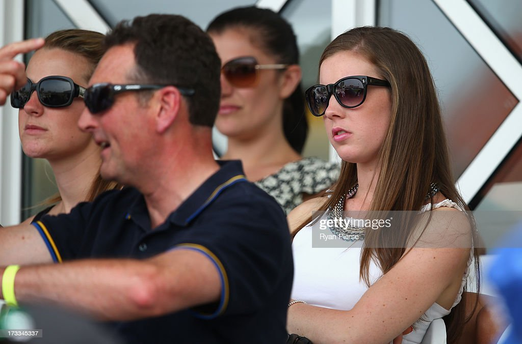 Madeleine Hay, girlfriend of Ashton Agar of Australia, looks on during day three of the 1st Investec Ashes Test match between England and Australia at Trent Bridge Cricket Ground on July 12, 2013 in Nottingham, England.