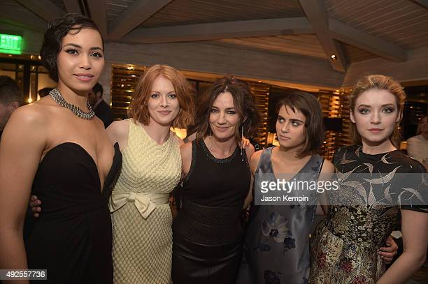 Madeleine Mantock Emily Beecham Orla Brady Ally Ioannides and Sarah Bolger attend the after party for the screening of AMC's 'Into The Badlands' at...