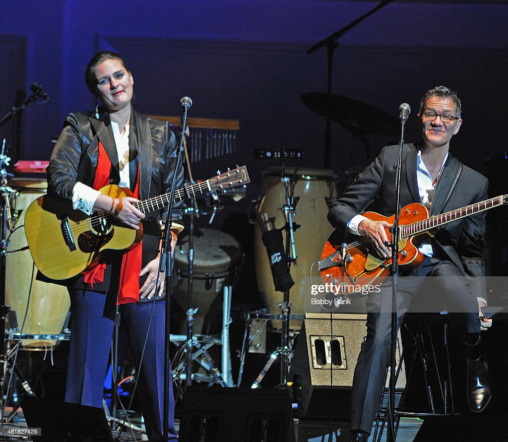 Madeleine Perroux and Jon Herrington attends The Music of Paul Simon at Carnegie Hall on March 31, 2014 in New York City.
