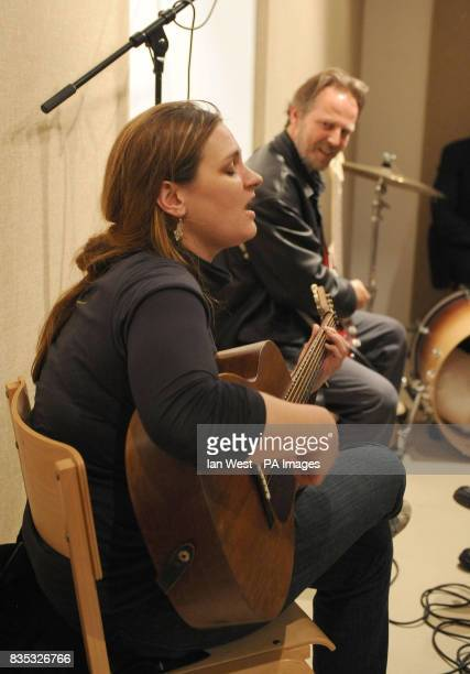 Madeleine Peyroux is as she seen performing with Steve Light as she visits homeless charity St Mungo's brand new recording studio The facility has...