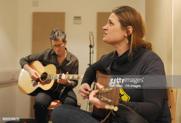 Madeleine Peyroux is seen performing with Jon Herrington visits homeless charity St Mungo's brand new recording studio The facility has been built...