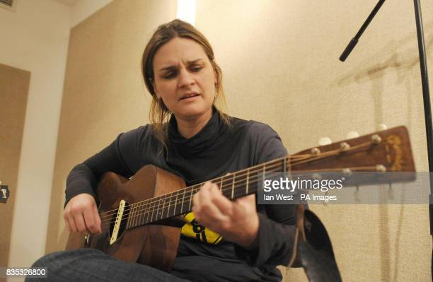 Madeleine Peyroux performs as she visits homeless charity St Mungo's brand new recording studio The facility has been built with government money in...
