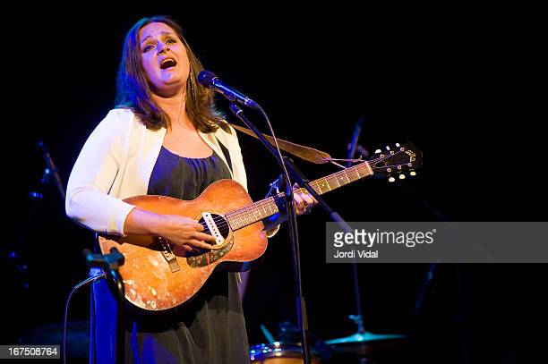 Madeleine Peyroux performs on stage in concert at Palau de la Musica during Guitar Festival BCN on April 25 2013 in Barcelona Spain