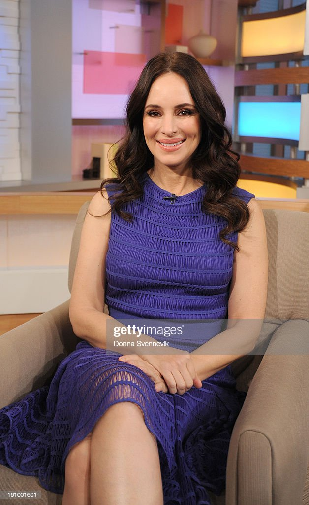 AMERICA - Madeleine Stowe of ABC's the 'Revenge' is a guest on 'Good Morning America,' 2/8/13, airing on the ABC Television Network. (Photo by Donna Svennevik/Disney-ABC via Getty Images)MADELINE STOWE
