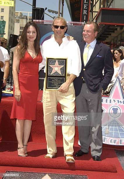 Madeleine StoweKevin Costner Robert Wagner during Kevin Costner Honored with a Star on the Hollywood Walk of Fame for His Achievements in Film at...