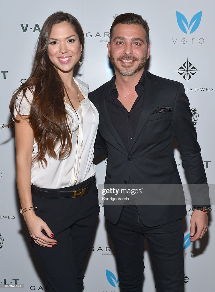 Madeleine Wenthzel and Yakir Shoshan attend the V.A.U.L.T. Art Basel Party on December 6, 2012 in Miami, Florida.
