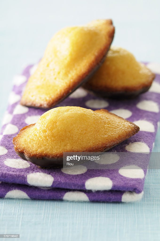 madeleine with chocolate : Stock Photo