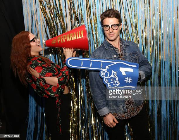 Madeline Brewer and Spencer Neville attend BuzzFeed and The CW's Riverdale Presents Pep Rally on March 11 2017 in Austin Texas