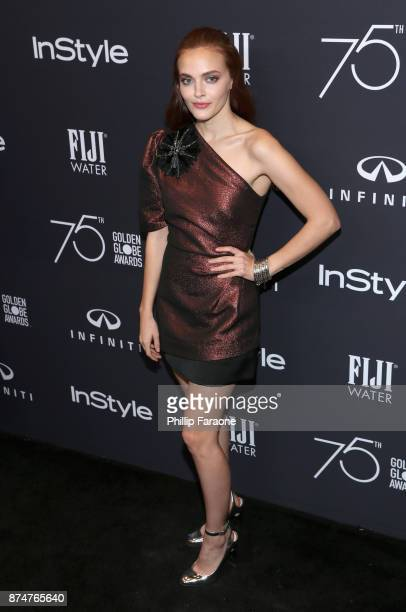 Madeline Brewer attends the HFPA's and InStyle's Celebration of the 2018 Golden Globe Awards Season and the Unveiling of the Golden Globe Ambassador...