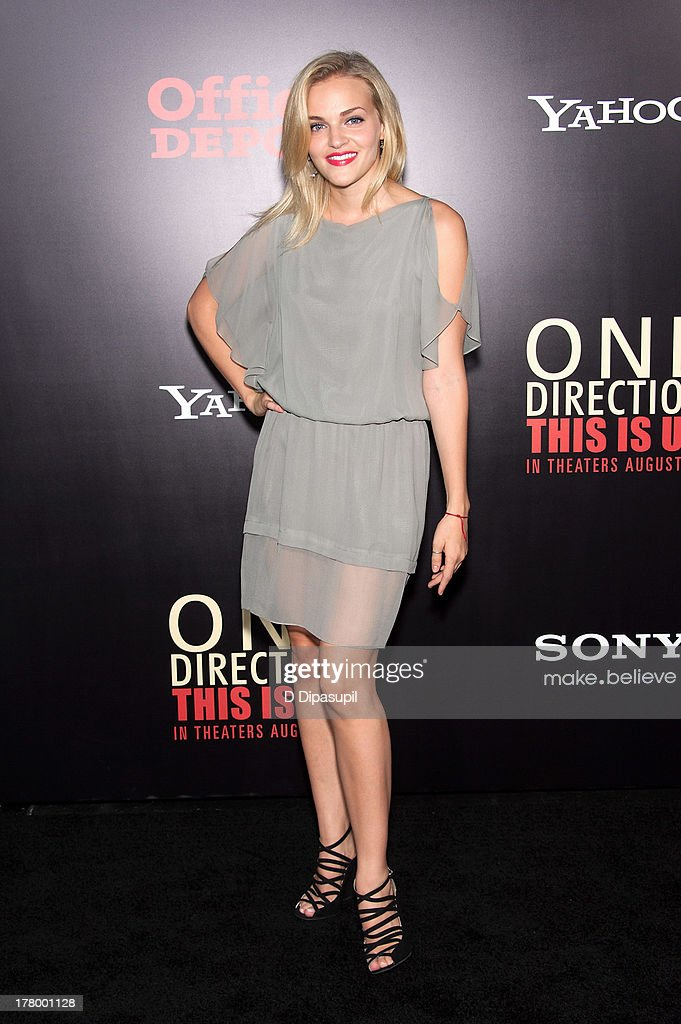 Madeline Brewer attends the New York premiere of 'One Direction: This Is Us' at the Ziegfeld Theater on August 26, 2013 in New York City.