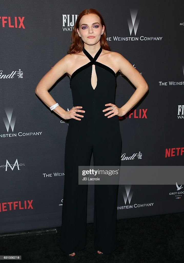 Madeline Brewer attends The Weinstein Company and Netflix Golden Globe Party, presented with FIJI Water, Grey Goose Vodka, Lindt Chocolate, and Moroccan Oil at The Beverly Hilton Hotel on January 8, 2017 in Los Angeles, California.