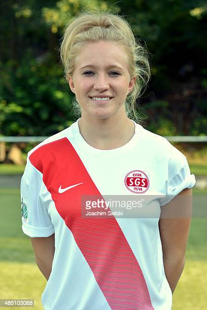 Madeline Gier during the SGS Essen Women's team presentation on August 24 2015 in Essen Germany