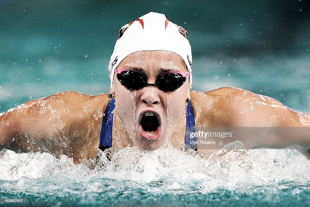 Madeline Groves competes in the final of the Womens 200 metre Butterfly event during the 2014 Australian Swimming Championships at Brisbane Aquatic Centre on April 5, 2014 in Brisbane, Australia.