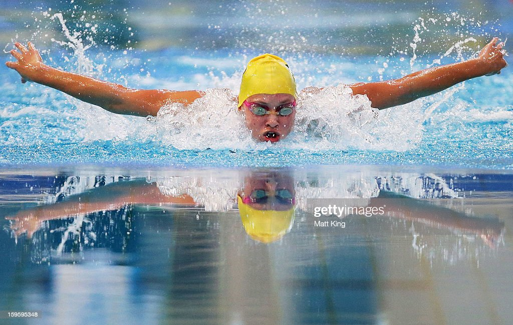 Madeline Groves of Australia competes in the Women's 200m butterfly final during day two of the 2013 Australian Youth Olympic Festival at Sydney Olympic Park Aquatic Centre on January 17, 2013 in Sydney, Australia.