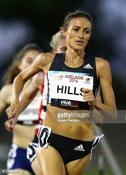 Madeline Hills of NSWIS competes in Women's 1500m during the Adelaide Track Classic on February 20 2016 in Adelaide Australia