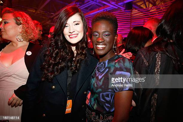 Madeline Juno and Ivy Quainoo attend the Tribute To Bambi Party at Station on October 17 2013 in Berlin Germany