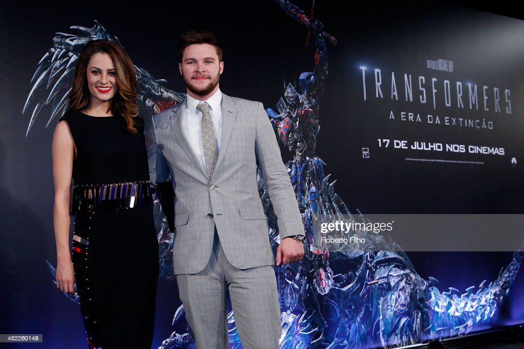Madeline Mulqueen and Jack Reynor attend the premiere of Paramount Pictures 'Transformers Age of Extinction' at Cinepolis Lagoon on July 16 2014 in...