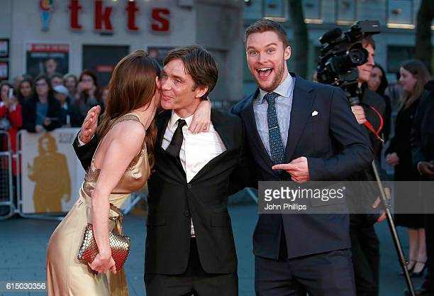 Madeline Mulqueen Cillian Murphy and Jack Reynor attend the 'Free Fire' Closing Night Gala screening during the 60th BFI London Film Festival at...