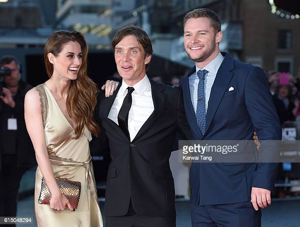 Madeline Mulqueen Cillian Murphy and Jack Reynor attend the 'Free Fire' Closing Night Gala during the 60th BFI London Film Festival at Odeon...