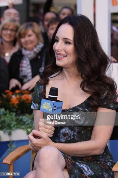 AMERICA Madeline Stowe of ABC's 'Revenge' appears on 'Good Morning America' 10/7/11 airing on the ABC Television Network MADELINE