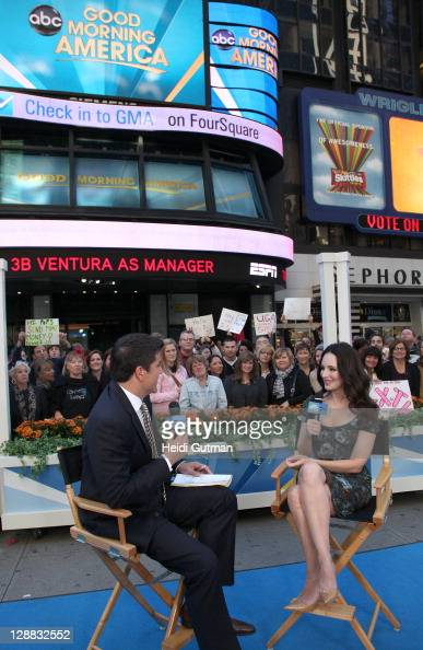 AMERICA Madeline Stowe of ABC's 'Revenge' appears on 'Good Morning America' 10/7/11 airing on the ABC Television Network JOSH