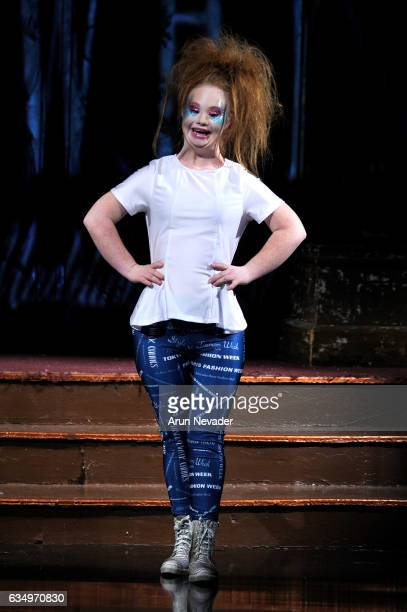 Madeline Stuart walks the runway during 21 Reasons Why By Madeline Stuart at New York Fashion Week Art Hearts Fashion NYFW FW/17 at The Angel...