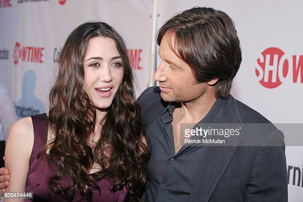 Madeline Zima and David Duchovny attend Californication DVD Release Party at Private Residence on June 16 2008 in Los Angeles CA