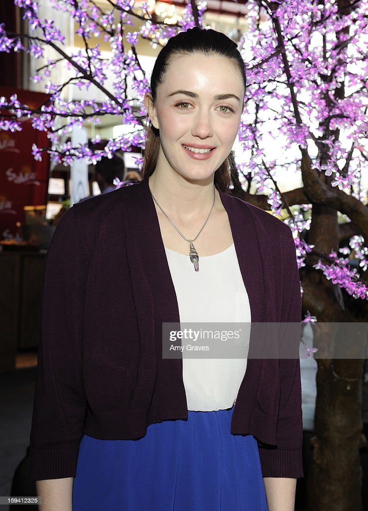 <a gi-track='captionPersonalityLinkClicked' href=/galleries/search?phrase=Madeline+Zima&family=editorial&specificpeople=896601 ng-click='$event.stopPropagation()'>Madeline Zima</a> attends GBK's Luxury Lounge During Golden Globe Weekend Day 2 at L'Ermitage Beverly Hills Hotel on January 12, 2013 in Beverly Hills, California.