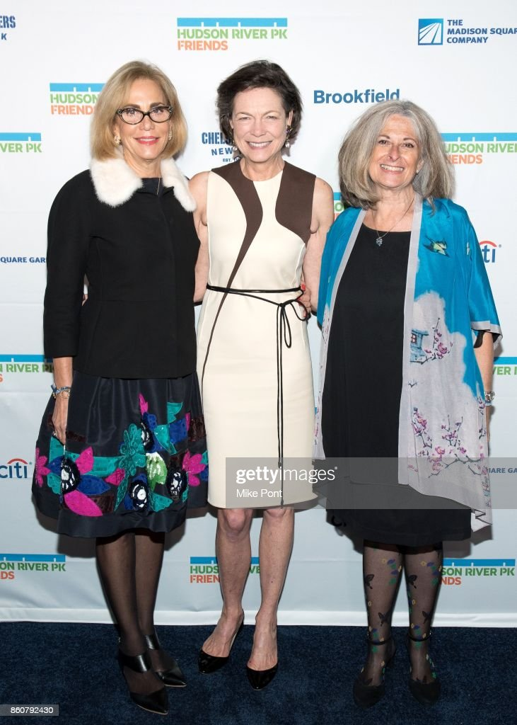 Madelyn Wils, Diana Taylor, and Connie Fishman attend the 2017 Hudson River Park Annual Gala at Hudson River Park's Pier 62 on October 12, 2017 in New York City.