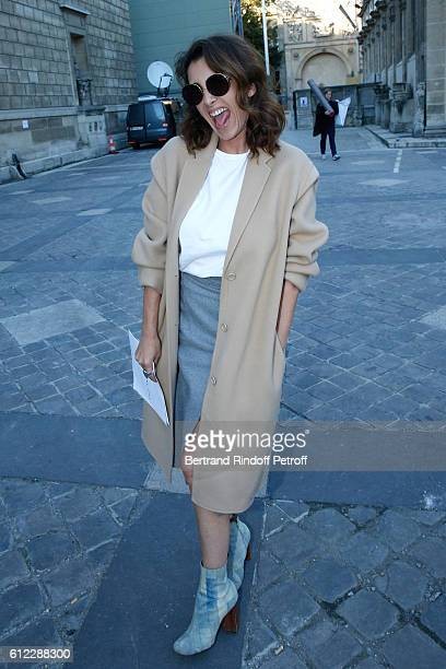 Mademoiselle Agens Boulard attends the Sonia Rykiel show as part of the Paris Fashion Week Womenswear Spring/Summer 2017 on October 3 2016 in Paris...