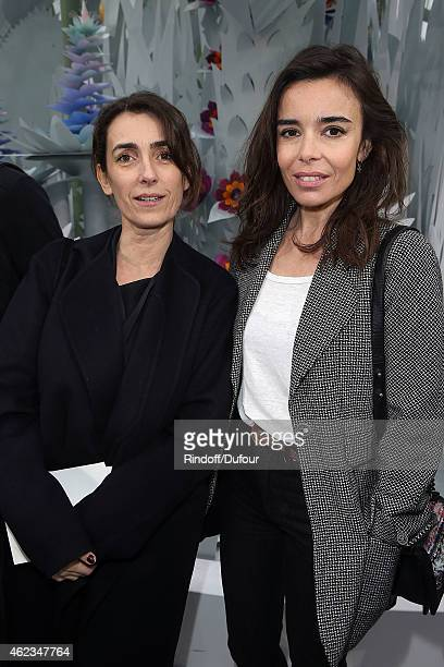 Mademoiselle Agnes and Elodie Bouchez attend the Chanel show as part of Paris Fashion Week Haute Couture Spring/Summer 2015 on January 27 2015 in...