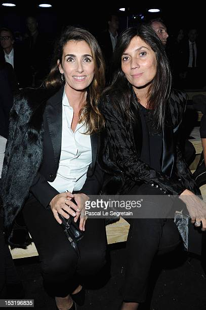 Mademoiselle Agnes and Emmanuelle Alt attends the Saint Laurent Spring / Summer 2013 show as part of Paris Fashion Week on October 1 2012 in Paris...