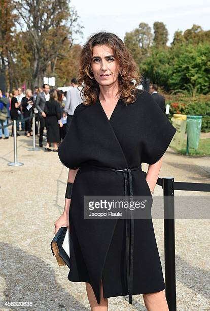 Mademoiselle Agnes arrives at Gianbattista Valli during Paris Fashion Week Womenswear SS 2015 on September 29 2014 in Paris France
