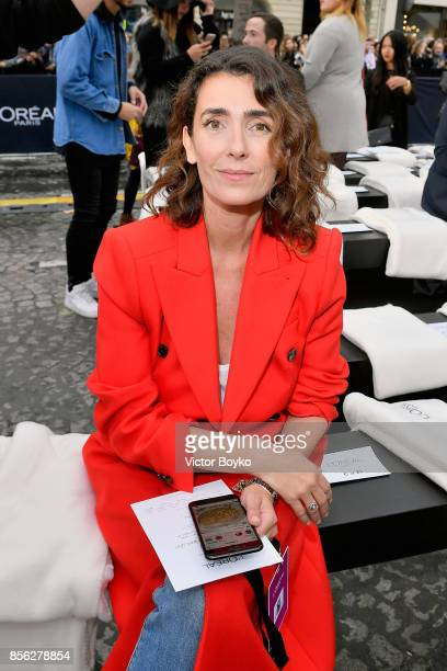 Mademoiselle Agnes attends Le Defile L'Oreal Paris as part of Paris Fashion Week Womenswear Spring/Summer 2018 at Avenue Des Champs Elysees on...