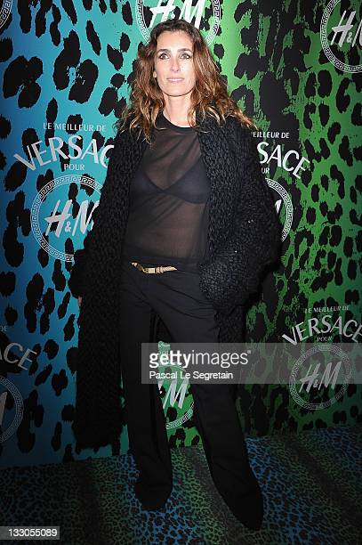 Mademoiselle Agnes attends the Versace For HM Collection Launch on November 16 2011 in Paris France