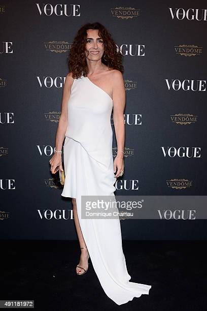 Mademoiselle Agnes attends the Vogue 95th Anniversary Party Photocall as part of the Paris Fashion Week Womenswear Spring/Summer 2016 on October 3...